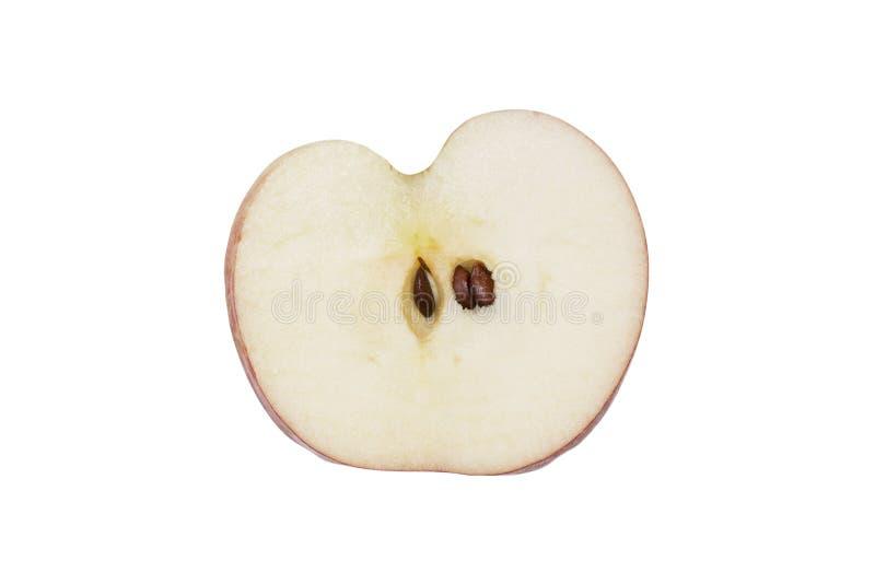 Verse die appelplak op witte achtergrond wordt geïsoleerd royalty-vrije stock afbeelding