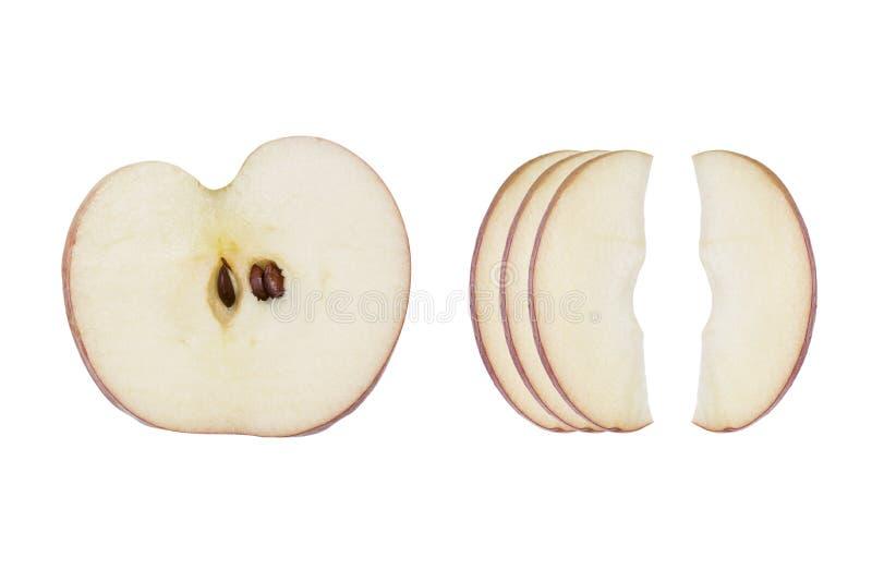 Verse die appelplak op witte achtergrond wordt geïsoleerd stock afbeelding