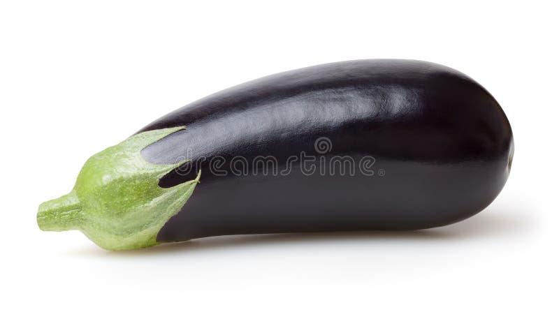 Verse die aubergine op wit wordt ge?soleerd royalty-vrije stock foto