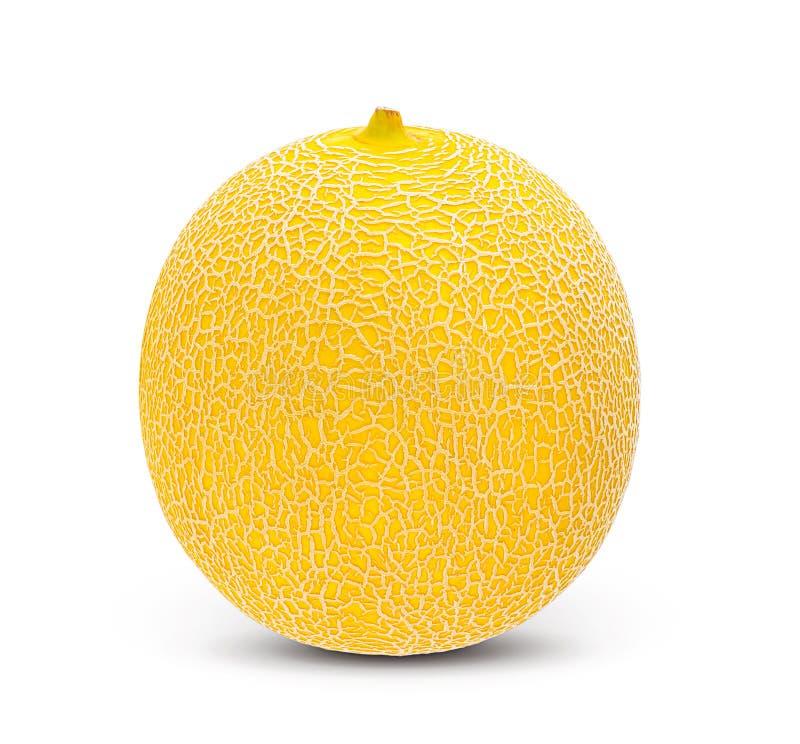 Verse die meloen op witte achtergrond wordt geïsoleerd Op volle diepte van gebied met cli royalty-vrije stock foto