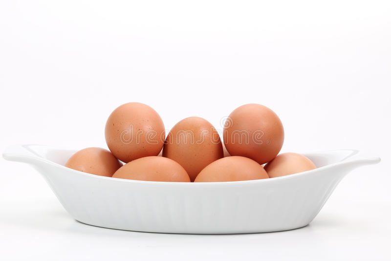 Verse eieren royalty-vrije stock foto