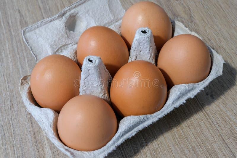 Verse eieren van een lokale productie royalty-vrije stock afbeelding