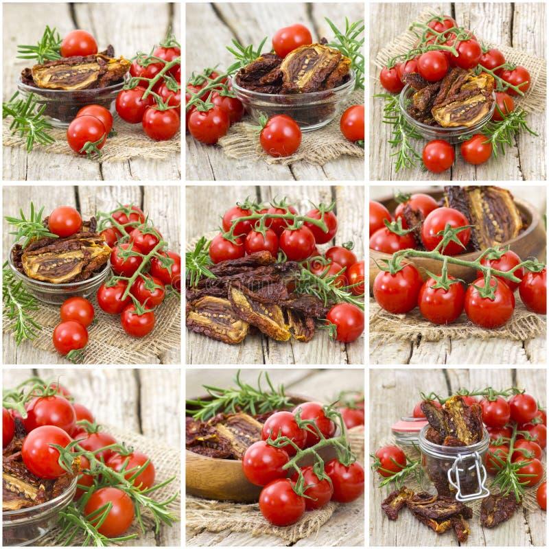 Verse en droge tomaten royalty-vrije stock afbeelding