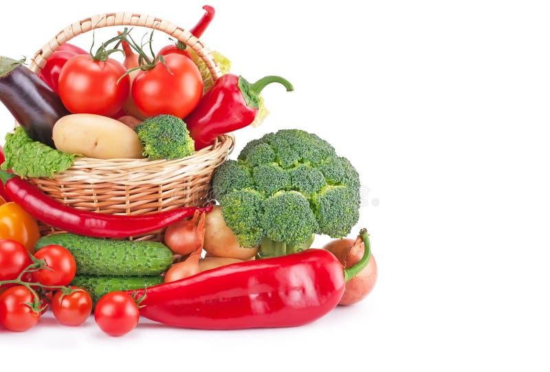 Verse en rijpe groenten stock foto