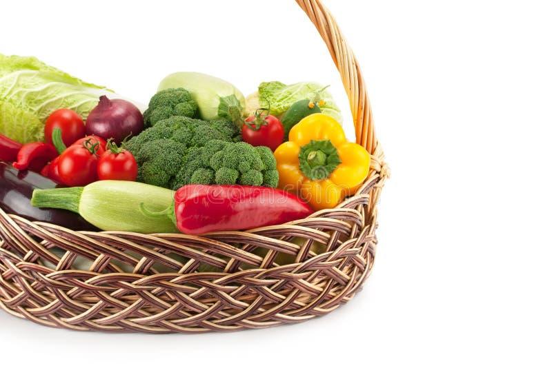 Verse en rijpe groenten royalty-vrije stock afbeelding