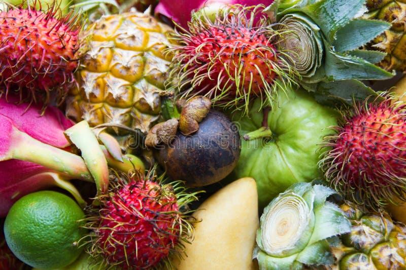 Verse en rijpe kleurrijke vruchten stock foto's