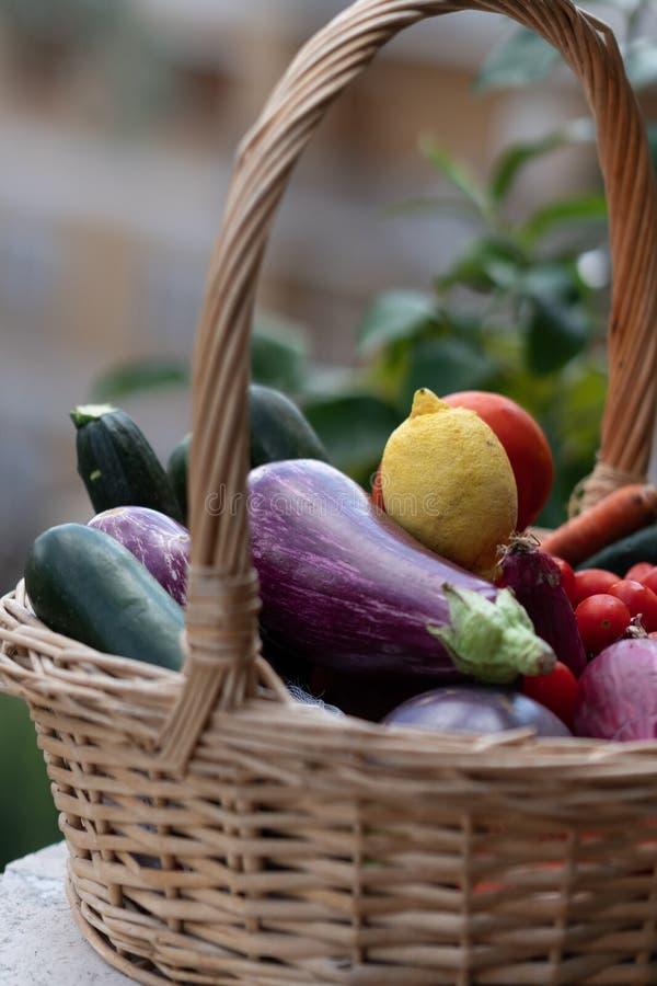 Verse en rijpe landbouwbedrijfgroenten stock afbeeldingen