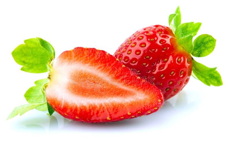 Verse en smakelijke aardbeien royalty-vrije stock afbeeldingen
