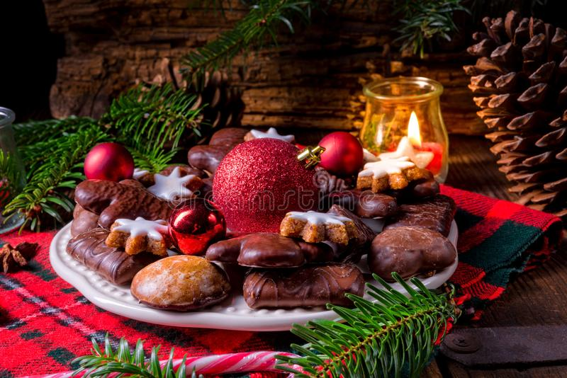 Verse en smakelijke Kerstmispeperkoek royalty-vrije stock foto