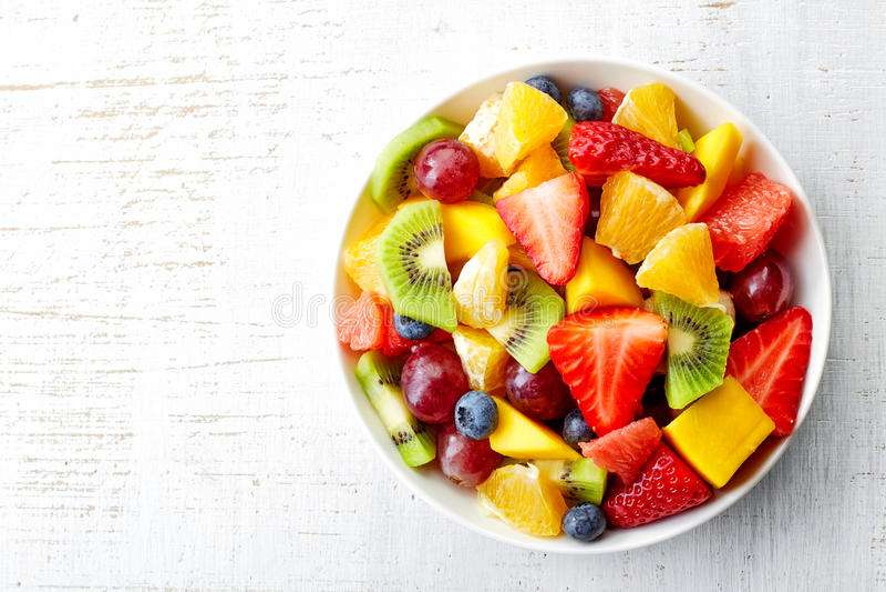 Verse fruitsalade royalty-vrije stock foto's