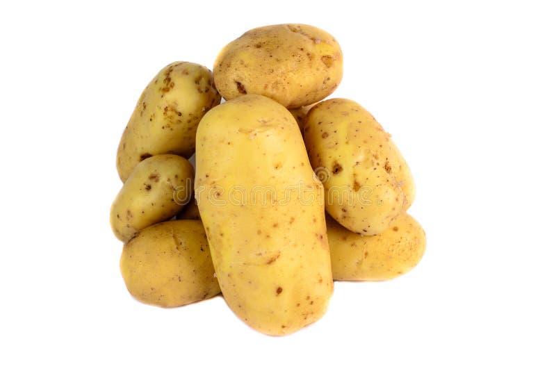 Verse geïsoleerde aardappels stock afbeeldingen