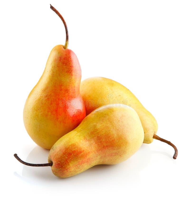 Verse geïsoleerdea perenvruchten royalty-vrije stock foto
