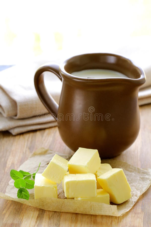 Verse gele boter royalty-vrije stock foto