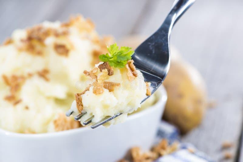 Verse gemaakte Fijngestampte Aardappels stock foto