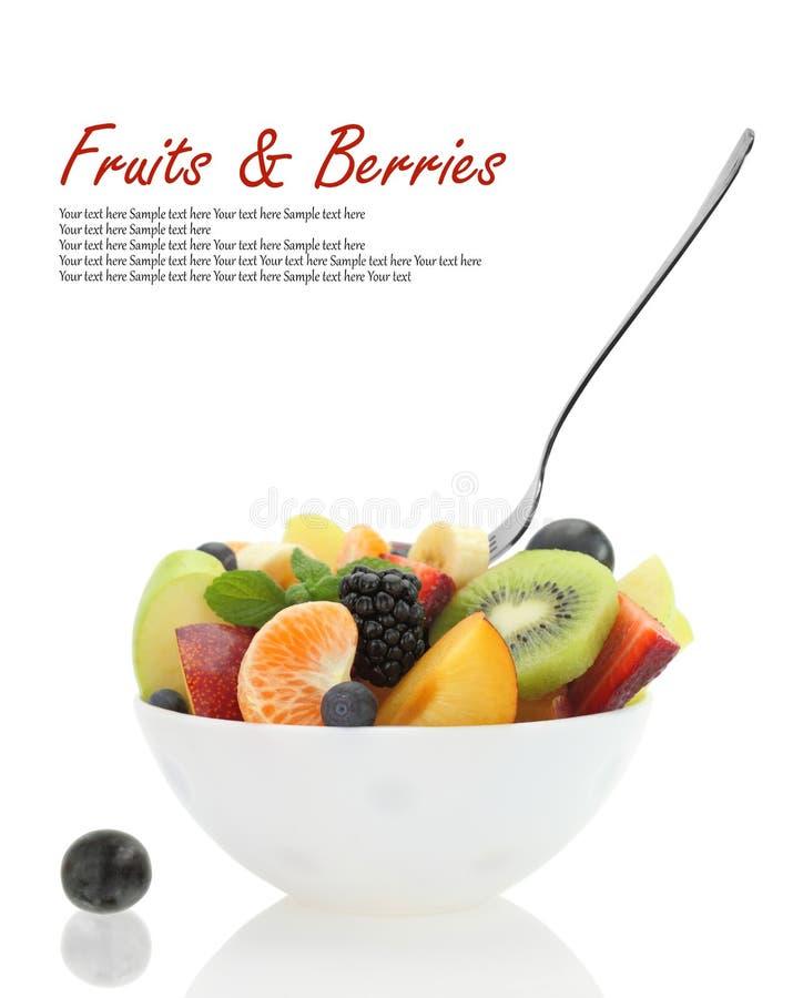 Verse gemengde fruitsalade stock afbeelding