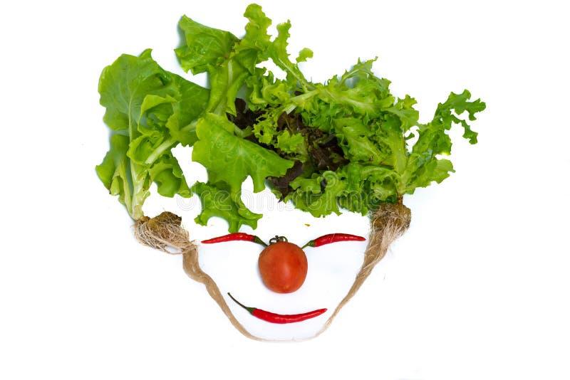 Verse gemengde groene geïsoleerde saladegroenten stock fotografie