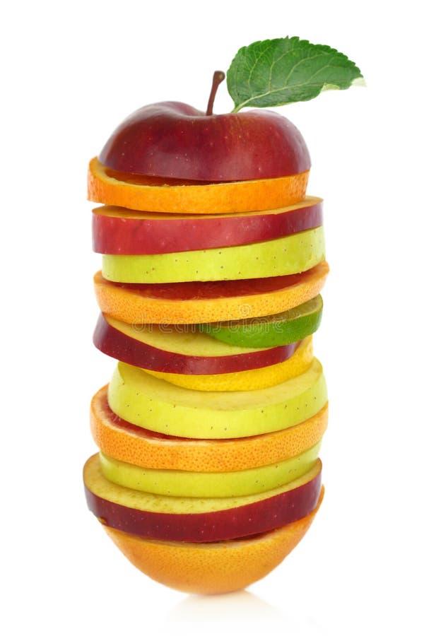 Verse gemengde plakken van fruit royalty-vrije stock foto's