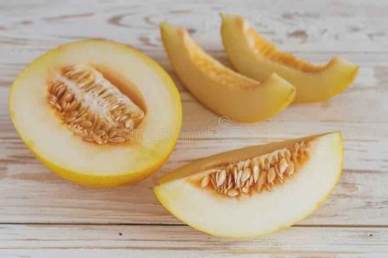 Verse gesneden meloenen stock foto