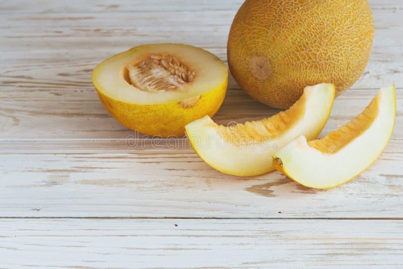 Verse gesneden meloenen royalty-vrije stock afbeelding