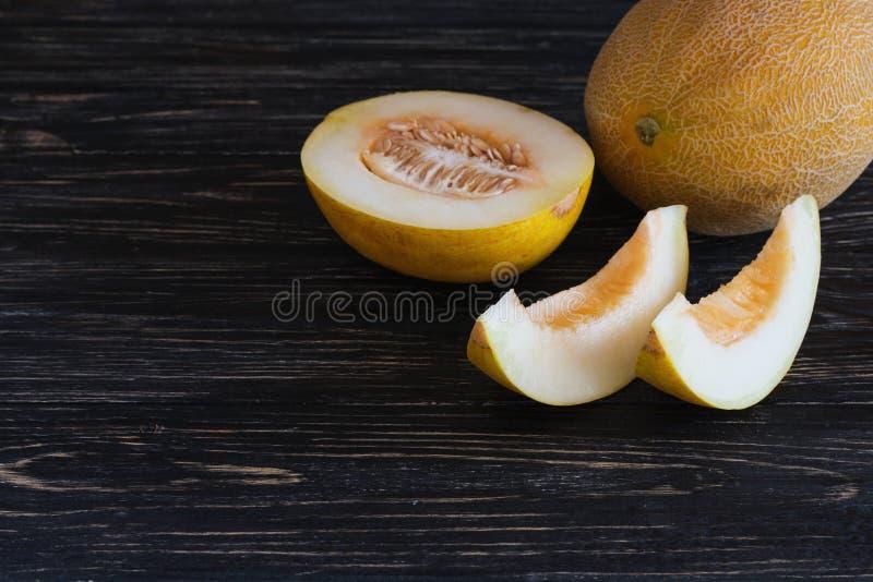 Verse gesneden meloenen stock foto's