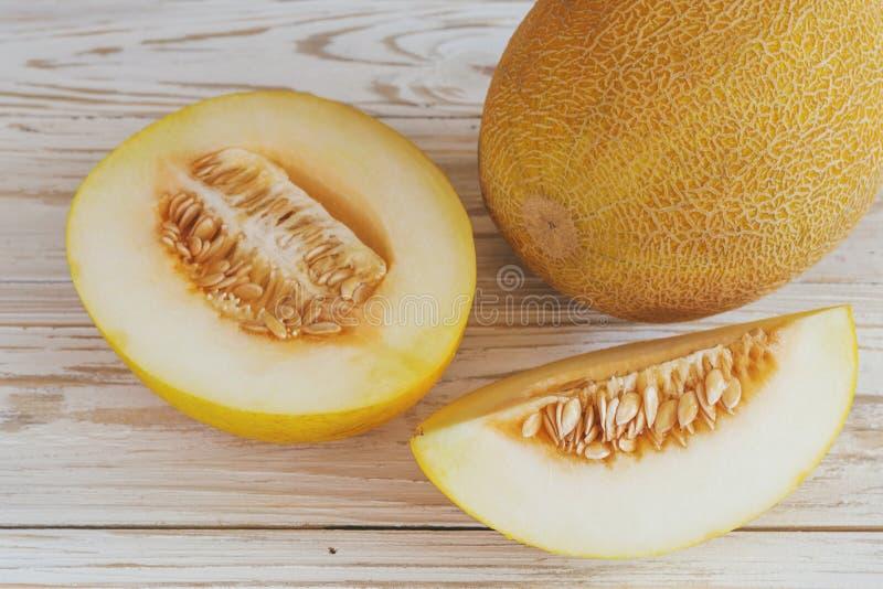 Verse gesneden meloenen stock fotografie