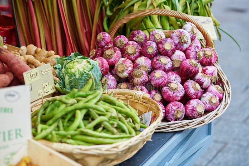 Verse gezonde biogroenten op markt royalty-vrije stock foto's