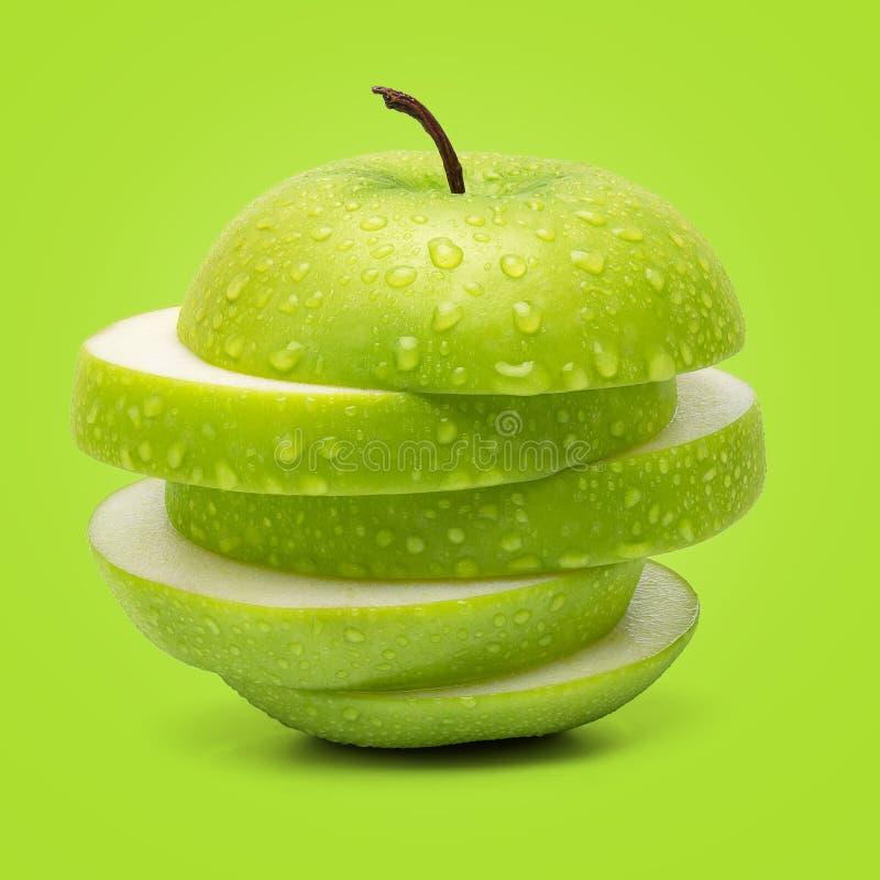 Verse Groene Appel royalty-vrije stock foto's
