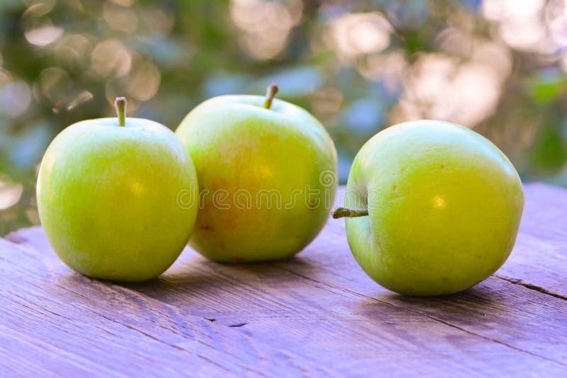 Verse groene appelen royalty-vrije stock foto