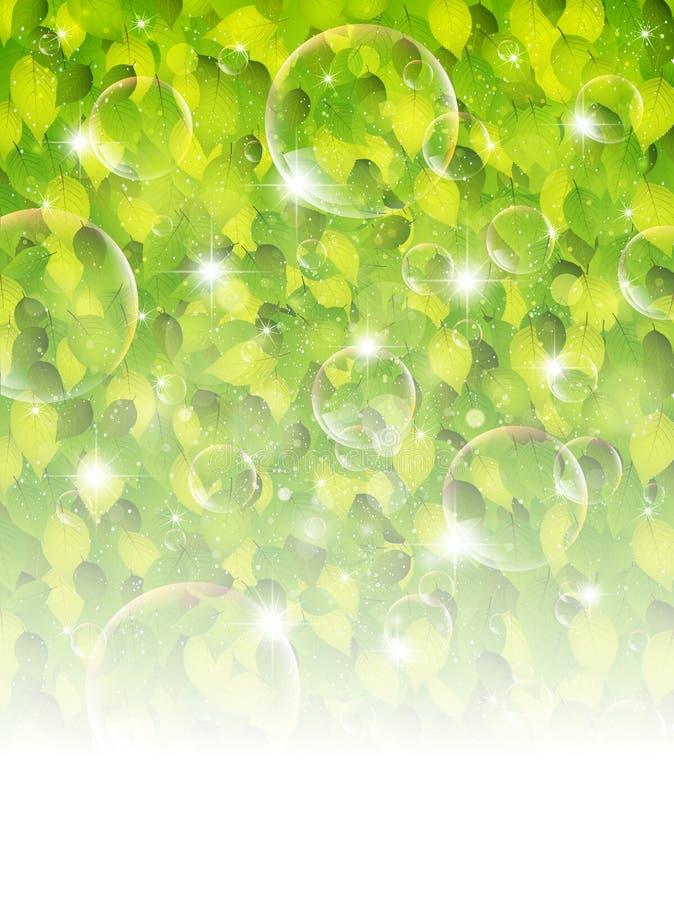 Verse groene bladachtergrond vector illustratie