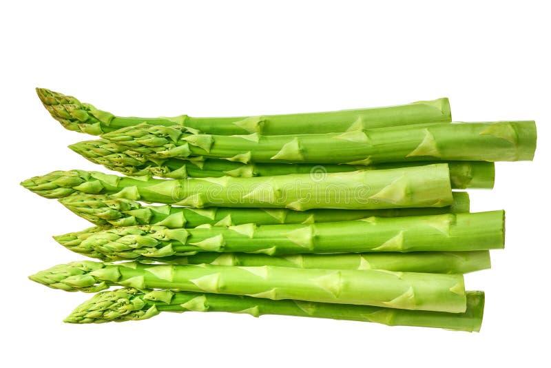 Verse groene die asperge op witte achtergrond wordt geïsoleerd stock foto