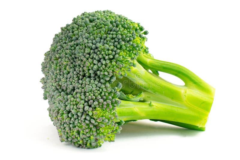 Verse groene die broccoli op witte achtergrond worden geïsoleerd royalty-vrije stock afbeelding