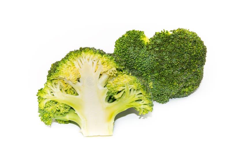 Verse groene die broccoli op witte achtergrond worden geïsoleerd stock foto