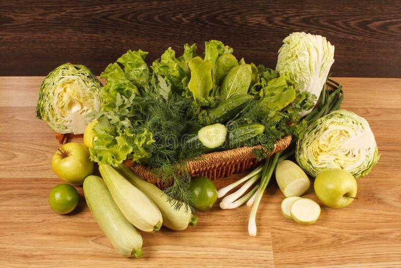 Verse groene groenten stock fotografie