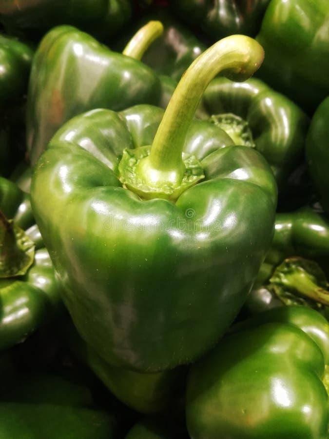 Verse groene paprika's royalty-vrije stock foto