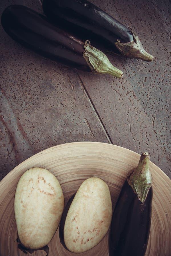 Verse groenten: aubergines royalty-vrije stock foto's