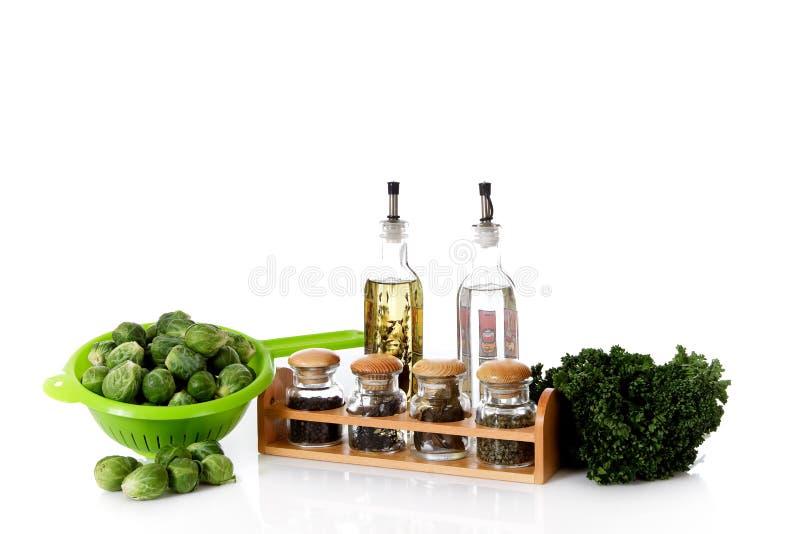 Verse groenten en kruiden royalty-vrije stock foto