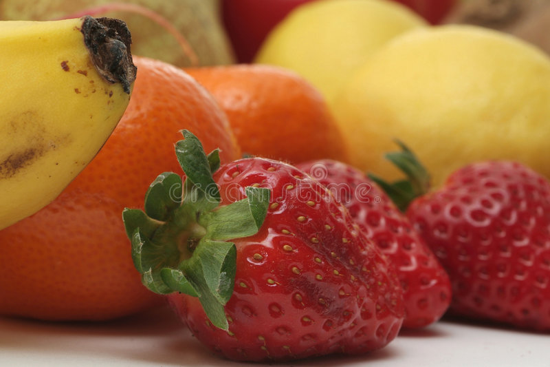Verse groenten en vruchten stock fotografie