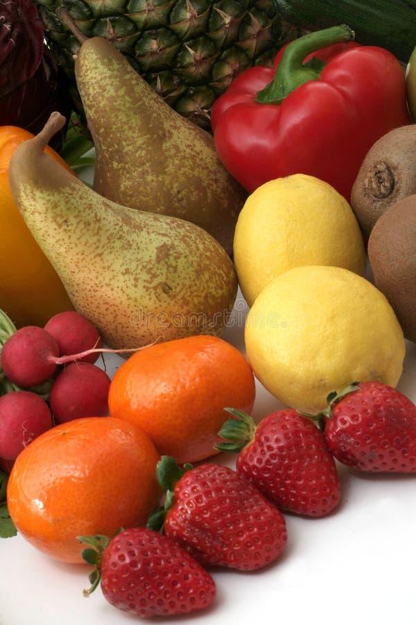 Verse groenten en vruchten stock afbeelding