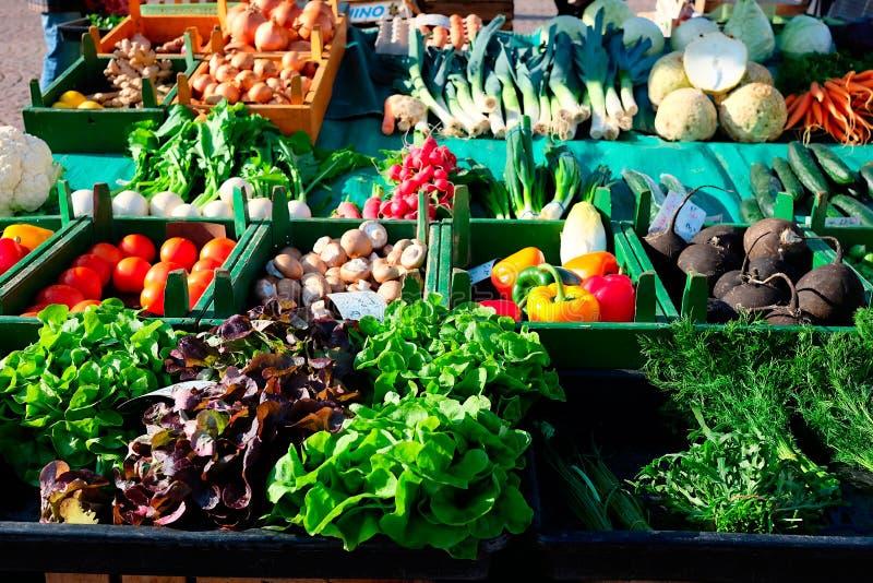 Verse groenten op de markt royalty-vrije stock foto