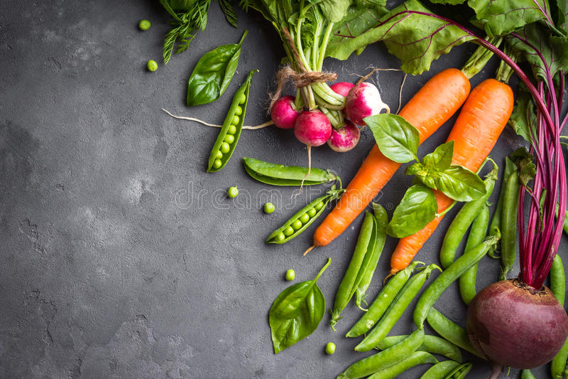 Verse groentenachtergrond royalty-vrije stock foto's