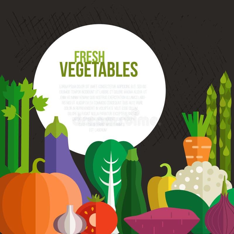 Verse Groentenconcept vector illustratie