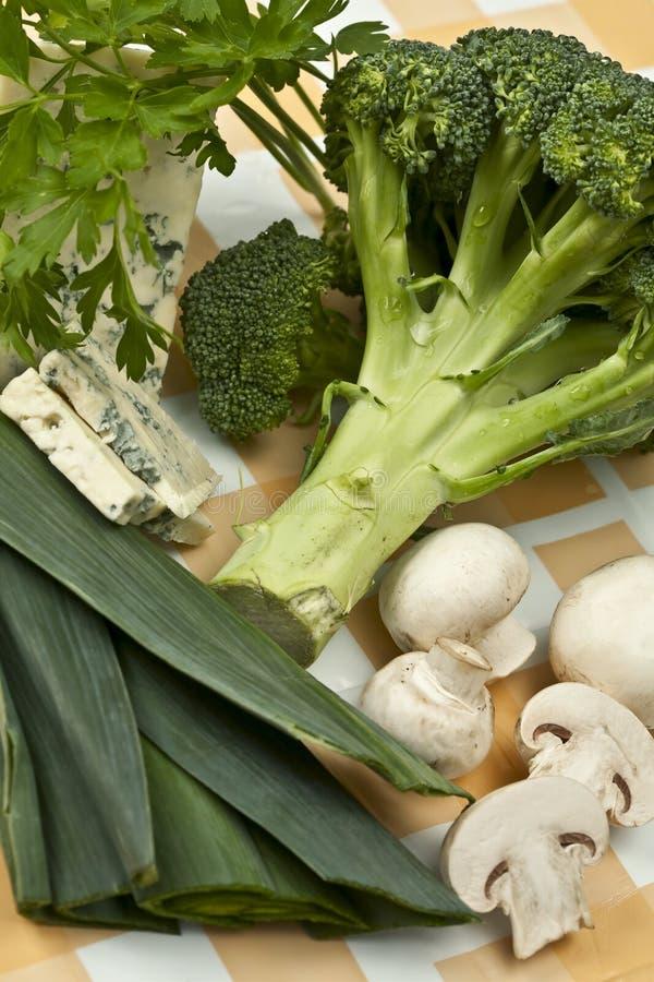 Verse groenteningrediënten royalty-vrije stock afbeelding