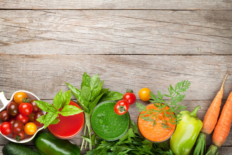 Verse groentesmoothie stock foto