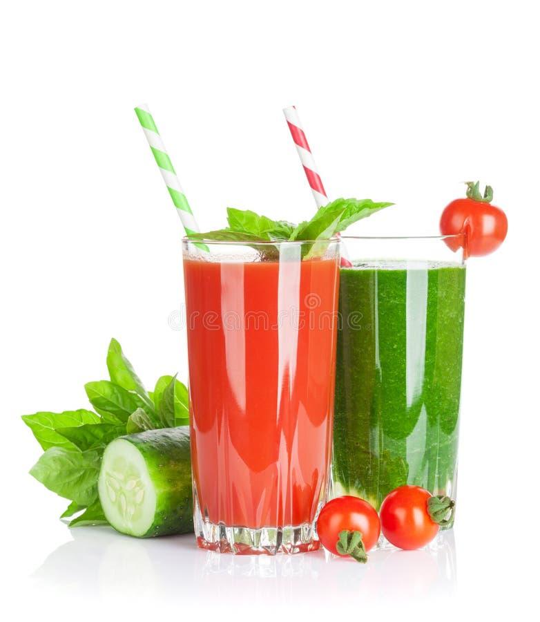 Verse groentesmoothie Tomaat en komkommer stock fotografie