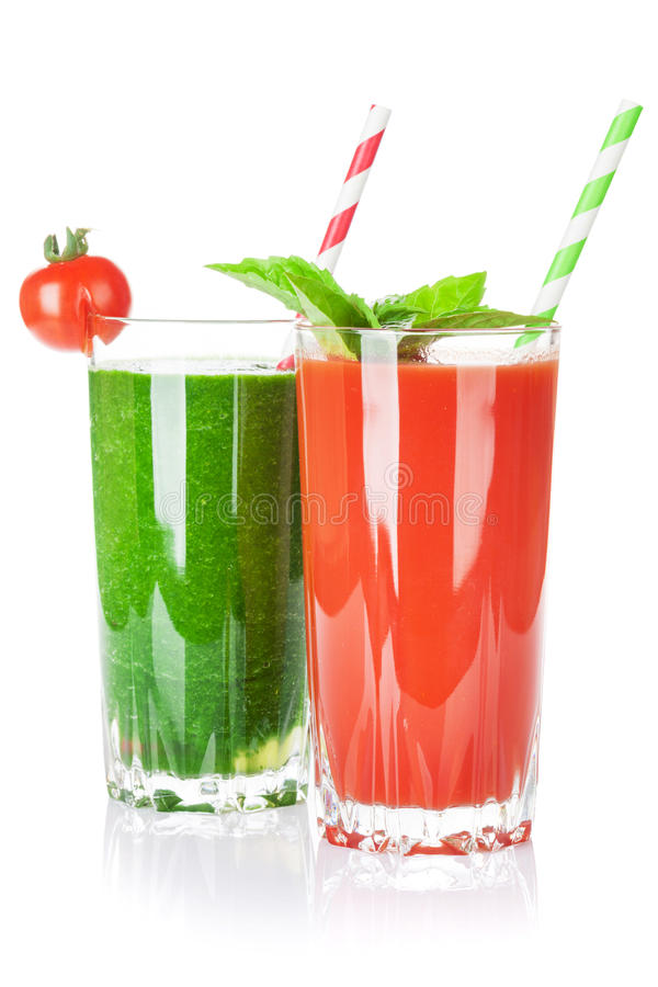 Verse groentesmoothie Tomaat en komkommer royalty-vrije stock afbeelding