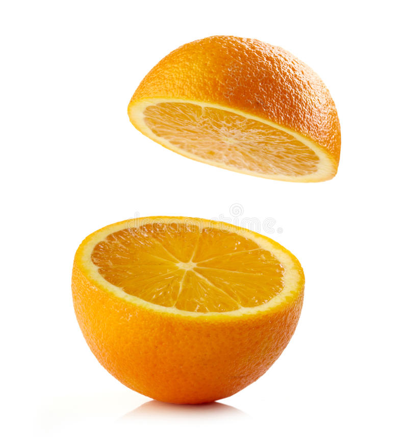 Verse halve sinaasappel stock foto