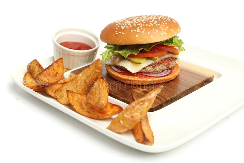 Verse hamburger royalty-vrije stock afbeelding