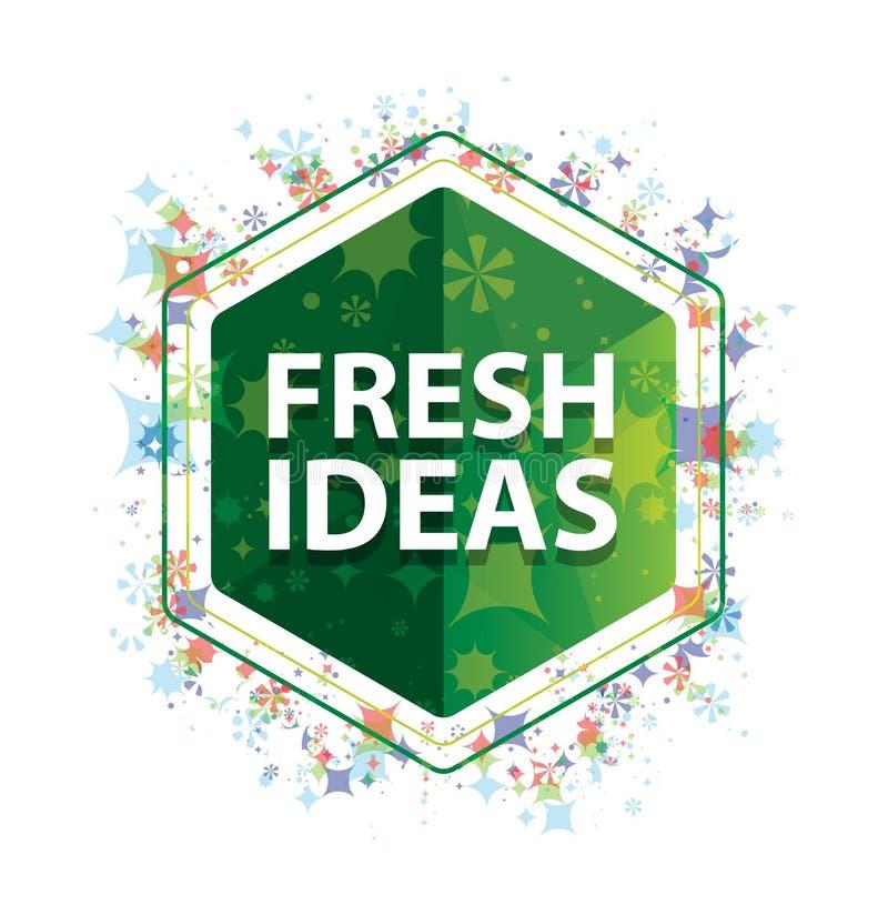 Verse het patroon groene hexagon knoop van Ideeën bloemeninstallaties royalty-vrije illustratie