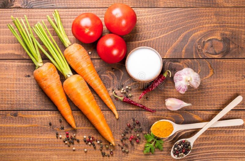 Verse ingrediënten voor het koken royalty-vrije stock foto