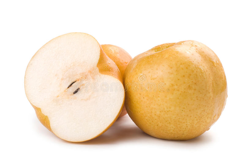 Verse Japanse peren stock afbeeldingen